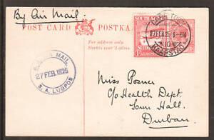 South-Africa-H-amp-G-7a-Sc-C1-on-1925-Postal-Card