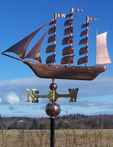 COPPER-TALL-SHIP-WEATHERVANE-MADE-IN-USA-150