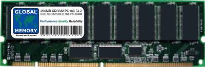 256MB PC100 100MHz 168-PIN ECC REGISTERED RDIMM SOYO MOTHERBOARD MEMORY RAM