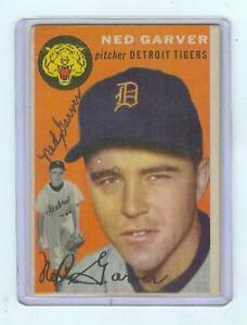 1954-TOPPS-44-NED-GARVER-AUTOGRAPH-AUTO-DETROIT-TIGERS