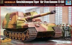00378 Trumpeter 1 35 Model Ger Geschützwagen Tiger 17cm K72 SH Tank Plastic Kit