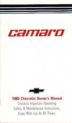 1980 Camaro Owner's Manual