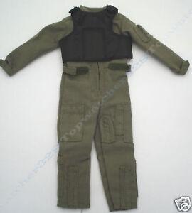 1-6-BBI-Figure-Aviator-Pilot-Uniform-Body-Armor-Set