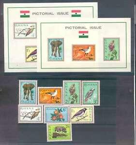 Ghana Stamps Yvert # 181/88 + S Sheet #14-15 MNH L@@K