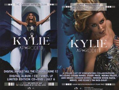 KYLIE - APHRODITE -  promo card - KYLIE MINOGUE