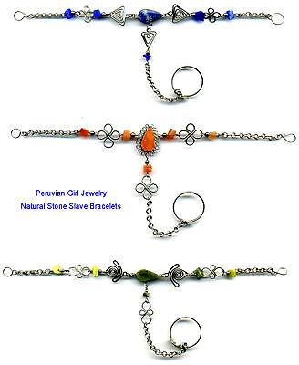 20 Slave Bracelets Gemstone Peru Jewelry Wholesale Lot