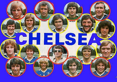 CHELSEA FOOTBALL TEAM PHOTO 1976-77 SEASON