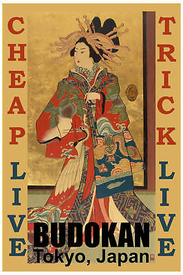 1970's Rock: Cheap Trick at  * BUDOKAN * Concert Poster 1978