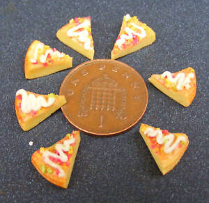 1-12-Scale-Seven-Pizza-Slices-Dolls-House-Miniature-Kitchen-Food-Accessory-Bread