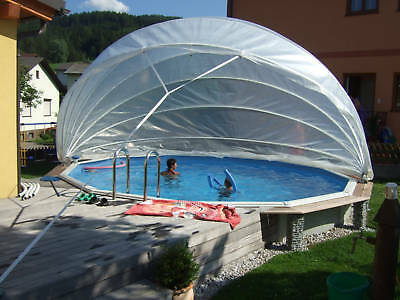 Cabriodome pool berdachung poolabdeckung cabrio dome rund for Rundpool set angebot