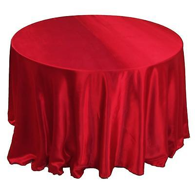 10 pcs 120 satin tablecloths round 30 colors table cover for 120 round table cover