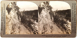Keystone-Stereoview-a-Tourists-Path-Trolhatta-SWEDEN