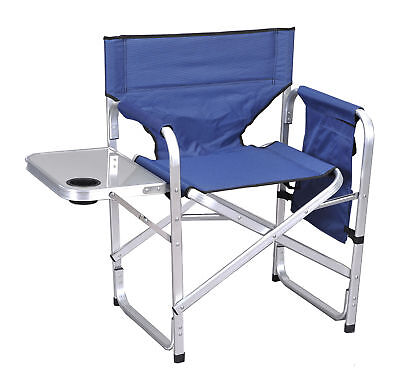 Camping Folding Sport Director Chair w Table 1204BLUE
