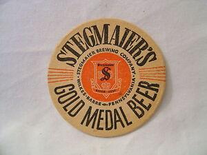 Stegmaiers beer cardboard coaster vintage original old - Cardboard beer coasters ...