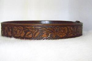 tooled western leather belt custom made ebay