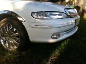 Ford-LTD-Chrome-bumper-inserts-EF-EL-NF-NL-DF-DL-96-97-FRONT-SET-10mm
