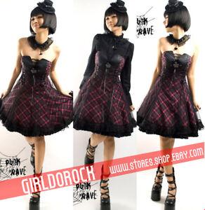 Gothic-LOLITA-CORSET-Cosplay-Q120-P-Dress-NECKBAND-M-L