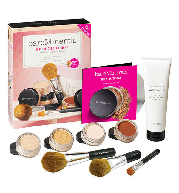 New In Box Bare Escentuals Minerals 9 Piece Starter Kit
