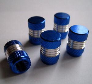 Blue-Silver-Alloy-Dust-Valve-Caps-for-Mercedes-Benz-A-B-C-E-S-Class-SLK-CLK