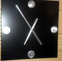 MODERN/CONTEMPORARY  16  SQUARE BLACK WALL CLOCK
