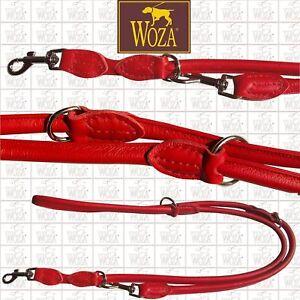 WOZA Premium Rundgenähte Hundeleine Hundeleine Hundeleine Lederleine Vollleder Rindnappa Leash S31617  | Vogue  4a1641
