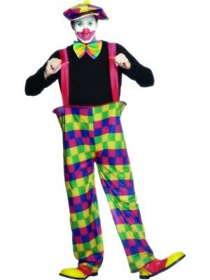 Adult Mens Clown Fancy Dress Costume Hooped Trousers Bow Tie & Hat M by Smiffys