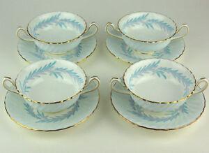 4-x-CREAM-SOUP-BOWLS-Minton-SYMPHONY-BLUE-S557-1-saucer-has-crazing-discounted