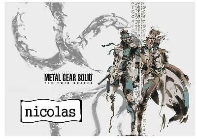 Plaque De Porte Metal Gear Solid + Prénom 02