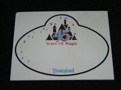 Disney 45th Anniversary Blank Cast Member Name Tag, Disneyland