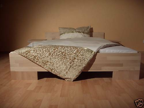 bett massivholz doppellbett bettgestell buche 160x200 ehebett bettrahmen holz ebay. Black Bedroom Furniture Sets. Home Design Ideas