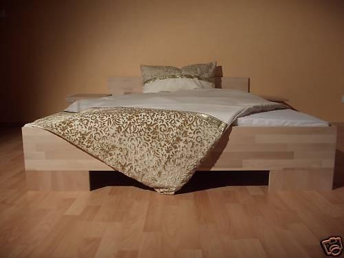 bett massivholz doppellbett bettgestell buche 160x200 ehebett bettrahmen holz ebay. Black Bedroom Furniture Sets. Home Design Ideas