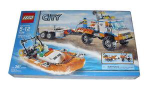 LEGO CITY CAMION GUARDIA COSTIERA con velocità Barca  7726  NUOVO