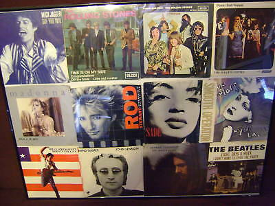 ROCK N ROLL VINYLS ON THE WALL