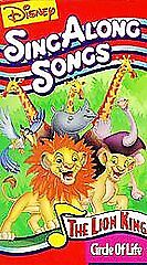 Good Sing Along Songs : disney 39 s sing along songs the lion king circle of life vhs good 1994 786936349139 ebay ~ Vivirlamusica.com Haus und Dekorationen