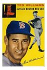 1954 Topps Ted Williams Boston Red Sox #250 Baseball Card