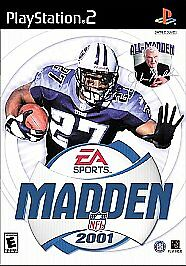 USED-MADDEN-NFL-2001-PLAYSTATION-2-VIDEO-GAME-DISC-PS2-FOOTBALL