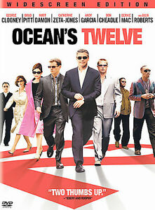 Ocean's Twelve (DVD, 2005, Widescreen)