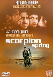 Scorpion Spring (DVD, 2003) FREEPOST 5017633202799