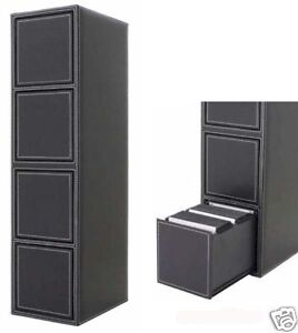 Spring-Eject-400-CD-DVD-Storage-Rack-Drawer-Cabinet-NEW