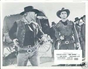 RED-RIVER-ORIGINAL-LOBBY-CARD-JOHN-WAYNE-MONTGOMERY-CLIFT-GUNS-DRAWN-RARE