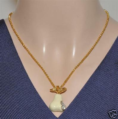 Kenneth Jay Lane Pear Pendant Necklace