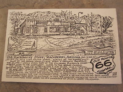 Hackberry Arizona by Late Bob Waldmire Artist on Route 66 Post Card, Quik S&H