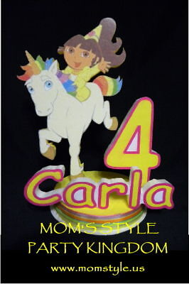 Princess Dora Birthday Party Cake Topper Bg W