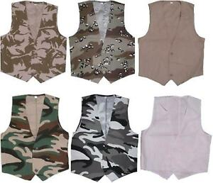 MENS-LIGHTWEIGHT-WAISTCOAT-FANCY-DRESS-NEW-CAMO-COMBAT