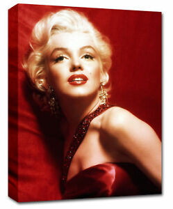 Marilyn-Monroe-Red-Canvas-Picture-chunky-frame-26-x20