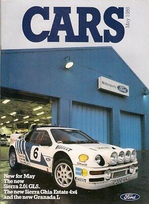 Ford Cars May 1986 UK Market Brochure Fiesta Escort Orion Sierra Capri Granada