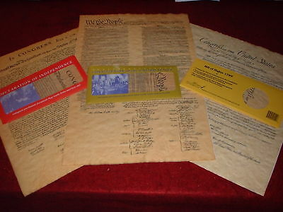 Declaration  Us Constitution  Bill Of Rights 3 Individual Freedom Document Set