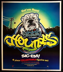 "HOOD HOUNDS POSTER DICE 17"" X 19.75"" English Bull Dog"
