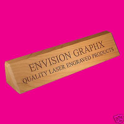 Classic Look Custom Engraved Alder Wood Desk Name Plate Pls Send Text And Font