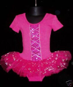 Image Is Loading New Girls Hot Pink Ballet Dance Tutu Dress